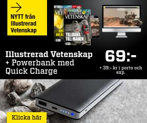 Illustrerad Vetenskap + Kraftfull powerbank med Quick Charge